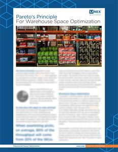 Unex Pareto's Principle for Warehouse Space Optimization